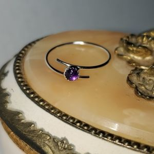 Sterling Silver & Amethyst Bypass Ring
